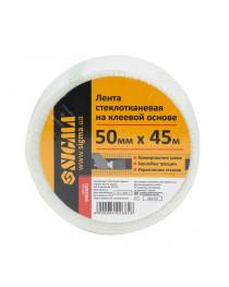 Лента стеклотканевая на клеевой основе 50ммх45м Sigma (8402691)