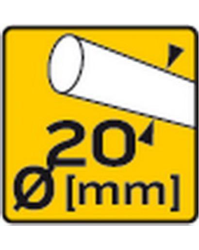 Пликторез 400 мм с алюминиевым основанием, двойные трубчатые направляющие 20 мм, шарикоподшипники, нож 22 x 6 x 2 мм TOPEX
