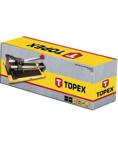 Пликторез 600 мм с алюминиевым основанием, двойные трубчатые направляющие 20 мм, шарикоподшипники, нож 22 x 6 x 2 мм TOPEX