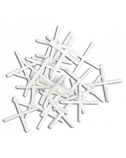 Набор крестиков дистанционных для укладки плитки 5 мм 100 штук TOPEX