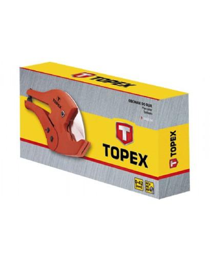 Труборез для пластиковых труб ПВХ, ПЭ, ПП 0 - 42 мм (1.5, 8) вес 590 гр TOPEX