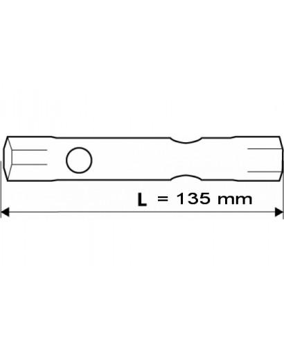 Ключ торцевой двусторонний с отверстиями 14 x 15 мм 135 мм TOPEX