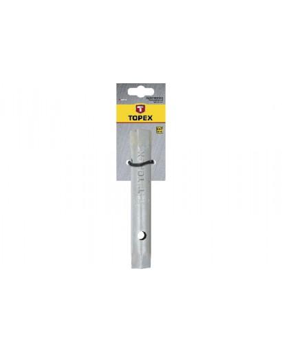 Ключ торцевой двусторонний с отверстиями 21 x 23 мм 170 мм TOPEX
