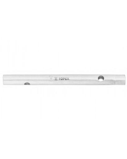 Ключ торцевой двусторонний с отверстиями 25 x 28 мм 190 мм TOPEX