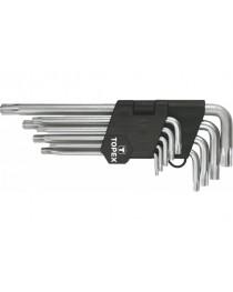 Набор Ключей Torx T10-T50 длинных 9 шт CrV TOPEX