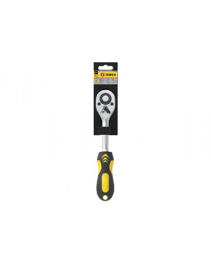 "Ключ-трещотка 1/4"" 150 мм CrV 72 зуба DIN 3122 TOPEX"
