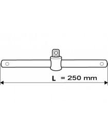 """Вороток Т-образный 1/2"""" 250 мм CrV TOPEX"""