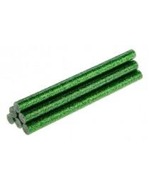Стержни клеевые с зелеными блестками 8 мм x 100 мм 6 шт TOPEX