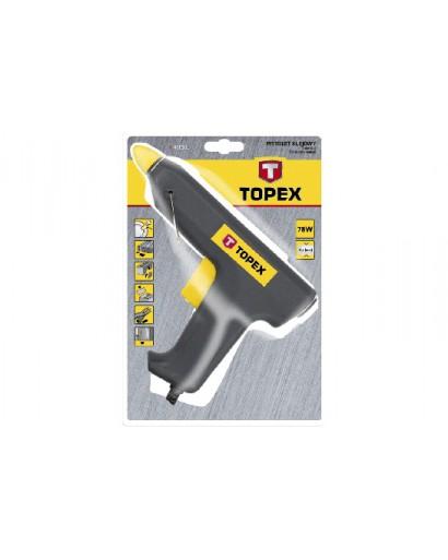 Термоклеевой пистолет 11.2 мм 25/78 Вт производительность 12-18 г/мин сертификат CE TOPEX