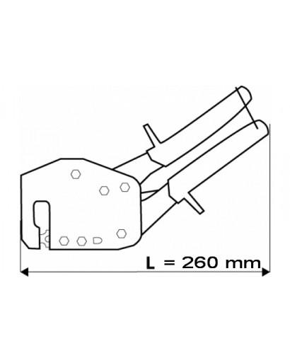 Просекатель для монтажа металлических конструкций 260 мм TOPEX