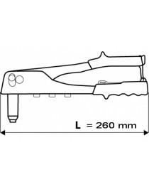 Заклепочник ручной 260 мм для алюминиевых заклепок 2.4 мм 3.2 мм 4.0 мм 4.8 мм TOPEX