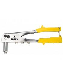 Заклепочник ручной 250 мм для алюминиевых заклепок 2.4 мм 3.2 мм 4.0 мм 4.8 мм TOPEX