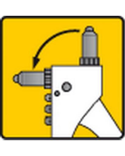 Заклепочник ручной двухпозиционный 270 мм для алюминиевых заклепок 2.4 мм 3.2 мм 4.0 мм 4.8 мм TOPEX